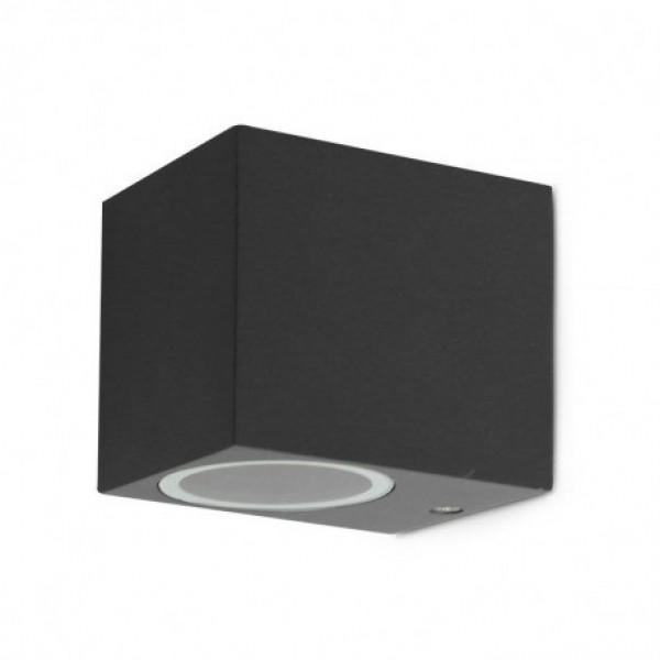 Aplique LED exterior IP44 superficie pared R 1xGU10 Antracita