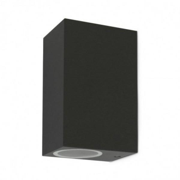 Aplique LED exterior IP44 superficie pared R 2xGU10 Antracita