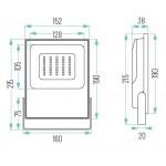 Foco LED exterior PRO 12V-24V DC 20W IP65 Gris