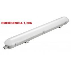 Pantalla estanca IP65 PC compacta LED de 1500mm 55W 5260Lm Emegencia
