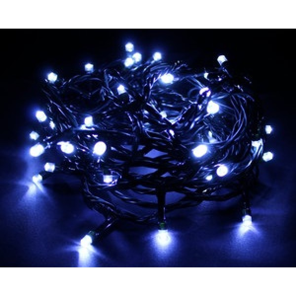 Guirnalda LED Blanco Frío 50pc 5mts Transformador