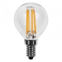 Lámpara LED Esferica Clara E14 4W Filamento 2700ºK
