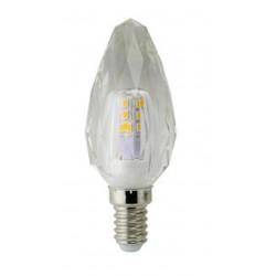 Lámpara LED Vela clara Cristal Diamante E14 4W