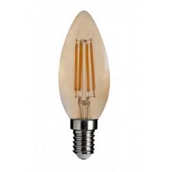 Lámpara LED Vela lisa Gold E14 4W Filamento 2500ºK