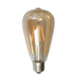 Lámpara LED Edison ST64 Gold E27 6W Filamento 2500ºK