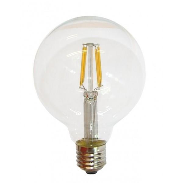 Lámpara LED Globo 95mm Clara E27 7,5W Filamento 2500ºK Regulable
