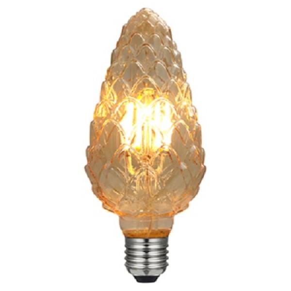 Lámpara LED Pinya Gold E27 6W Filamento 2200ºK Regulable