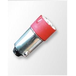 Lámpara LED Tubular Ba9s 230V colores, Ideal pilotos luminosos