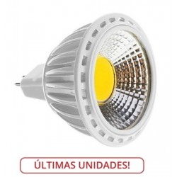 Lámpara LED GU5,3 MR16 COB 5W 90º Blanco Cálido