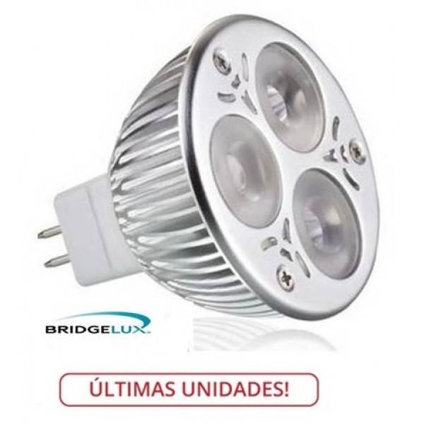 Lámpara LED MR16 6W, Blanca Neutra, Bridgelux
