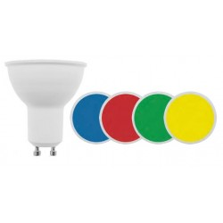 Lámpara LED GU10 SMD 5W 100º colores