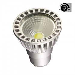 Lámpara LED GU10 COB 6W 50º, Regulable