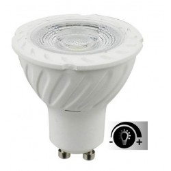 Lámpara LED GU10 SMD 6W 80º Regulable
