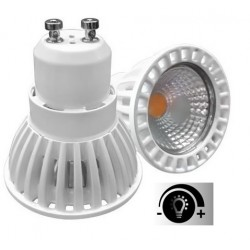 Lámpara LED GU10 Blanca COB 6W 50º, Regulable