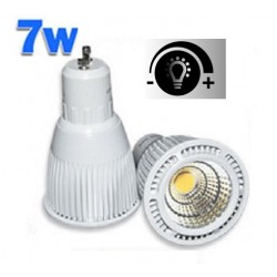 Lámpara LED GU10 COB 7W 60º Regulable