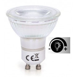 Lámpara LED GU10 COB Cristal 7W 38º Retro Regulable