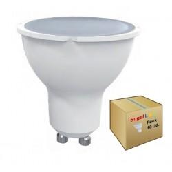 Lámpara LED GU10 SMD 7W 120º, Caja de 10 ud x 2,20€/ud