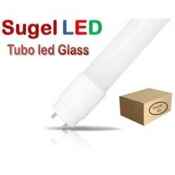 Tubo LED T8 1200mm Cristal ECO 18W Blanco Neutro, conexión 1 lado, Caja de 25 ud x 3,49€/ud.
