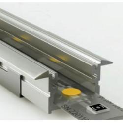 Perfil empotrar aluminio anodizado 28x12mm para tiras LED, barra 2 Metros
