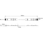 Tira LED 5 mts Flexible 24W 300 Led SMD 3528 IP54 Blanco Cálido Alta Luminosidad
