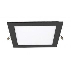 Downlight panel LED Cuadrado 120x120mm Negro 6W