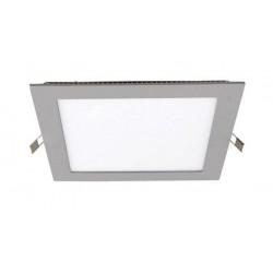 Downlight panel LED Cuadrado 170x170mm Gris 12W