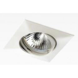 Foco basculante cuadrado empotrar Blanco, para Lámpara GU10/MR16