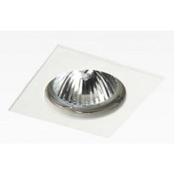 Foco fijo cuadrado empotrar Blanco, para Lámpara GU10/MR16