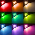 Foco LED exterior BASIC 10W IP65 RGB + mando IR