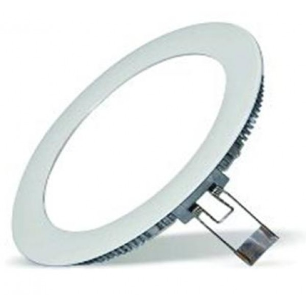 Downlight panel LED Redondo 225mm Gris 18W Blanco Frío