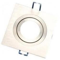 Foco basculante cuadrado empotrar Aluminio texturizado 1L, para Lámpara GU10/MR16