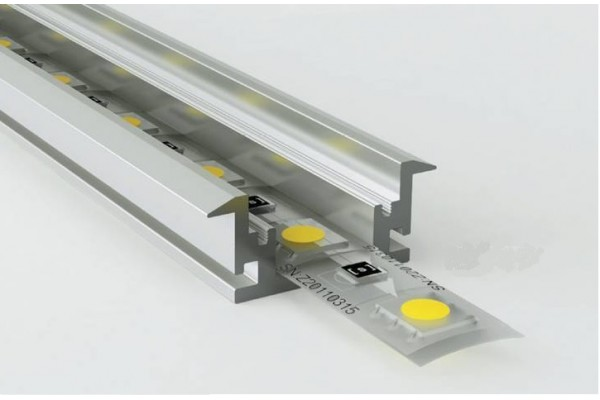 Perfil empotrar suelo pisable aluminio anodizado 26 7x11mm - Perfil aluminio anodizado ...