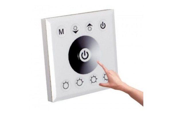 Regulador t ctil para tira led monocolor blanco para for Regulador para led