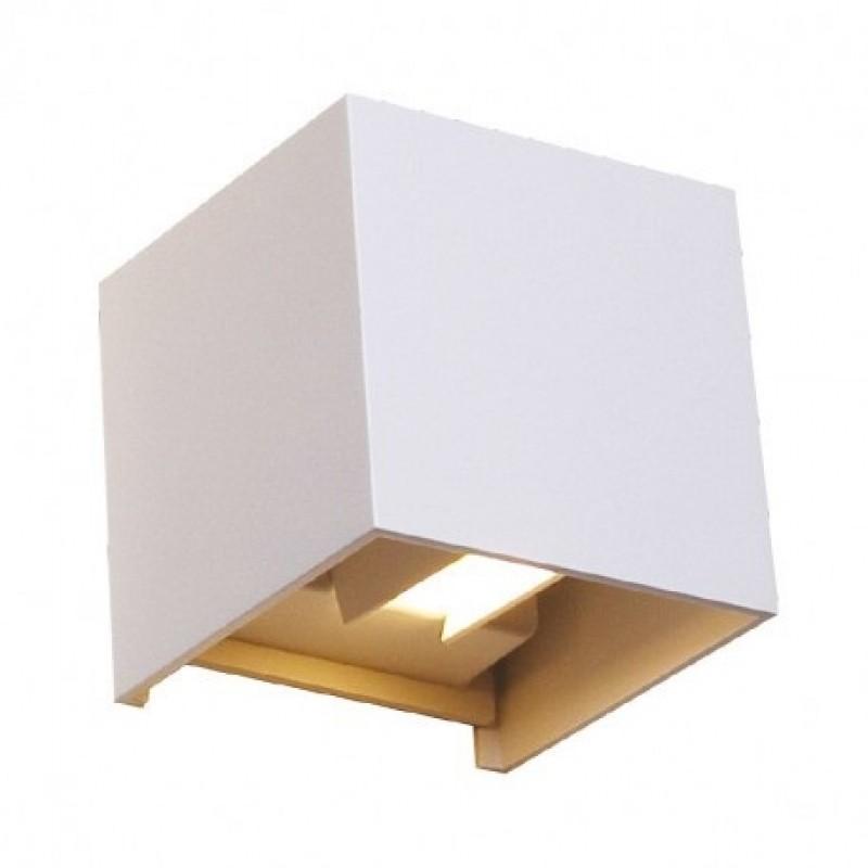 Cubic Led Aplique Pared Superficie Exterior 7w 430lm Blanco Ip54 yvN8nwOP0m
