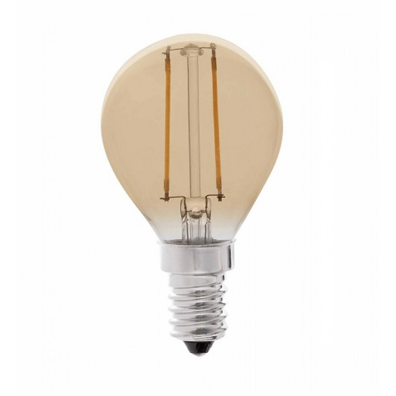 2W Filamento E14 LED Esferica Gold Lámpara 5uFJc31TlK