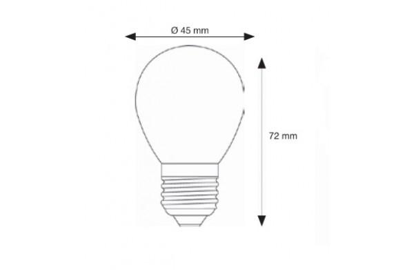 L mpara l mpara led esferica clara e27 4w filamento 2500 k - Bombilla led parpadea ...