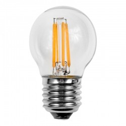 L mpara led esferica clara e27 4w filamento - Bombilla led parpadea ...