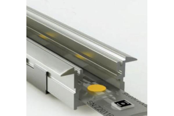 Perfil empotrar aluminio anodizado 28x12mm para tiras led - Perfil aluminio anodizado ...