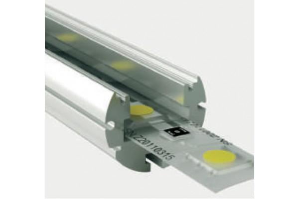 Perfil redondo aluminio anodizado 19x16mm para tiras led - Perfil aluminio anodizado ...